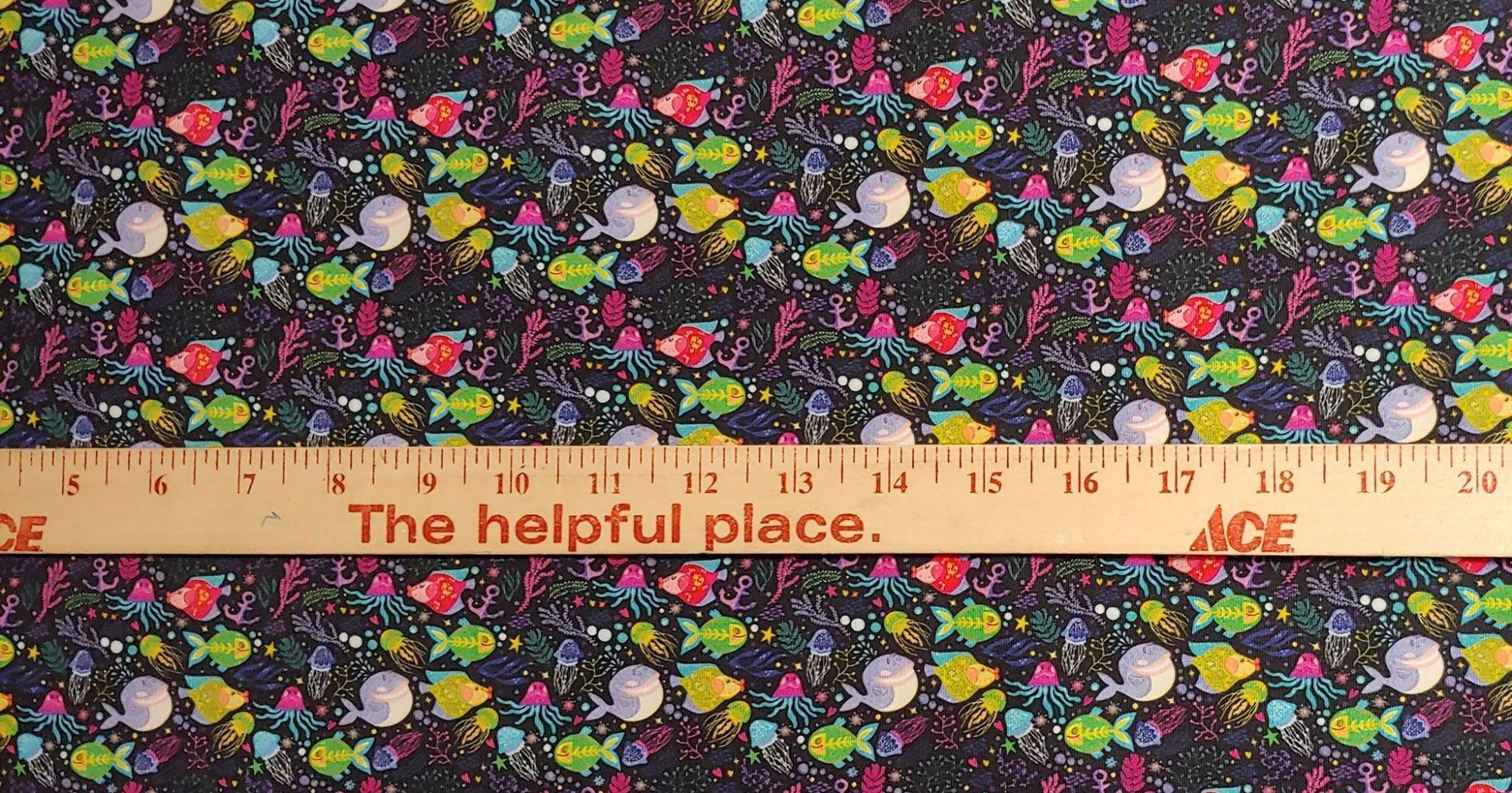 Custom Knit Fish Print