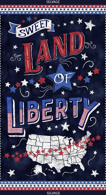 24 Inch Sweet Land of Liberty Panel