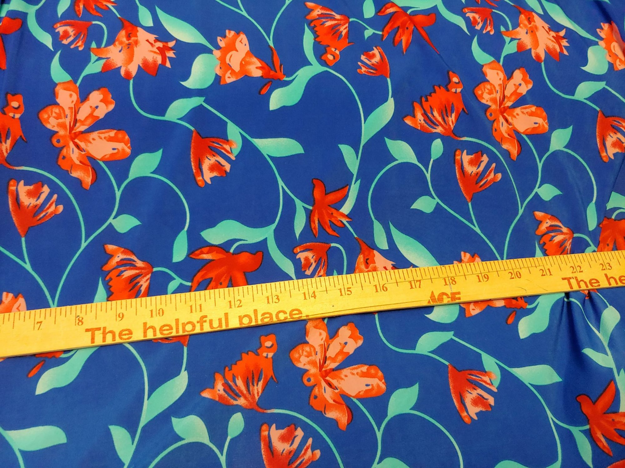 ITY Red Floral on Royal Blue