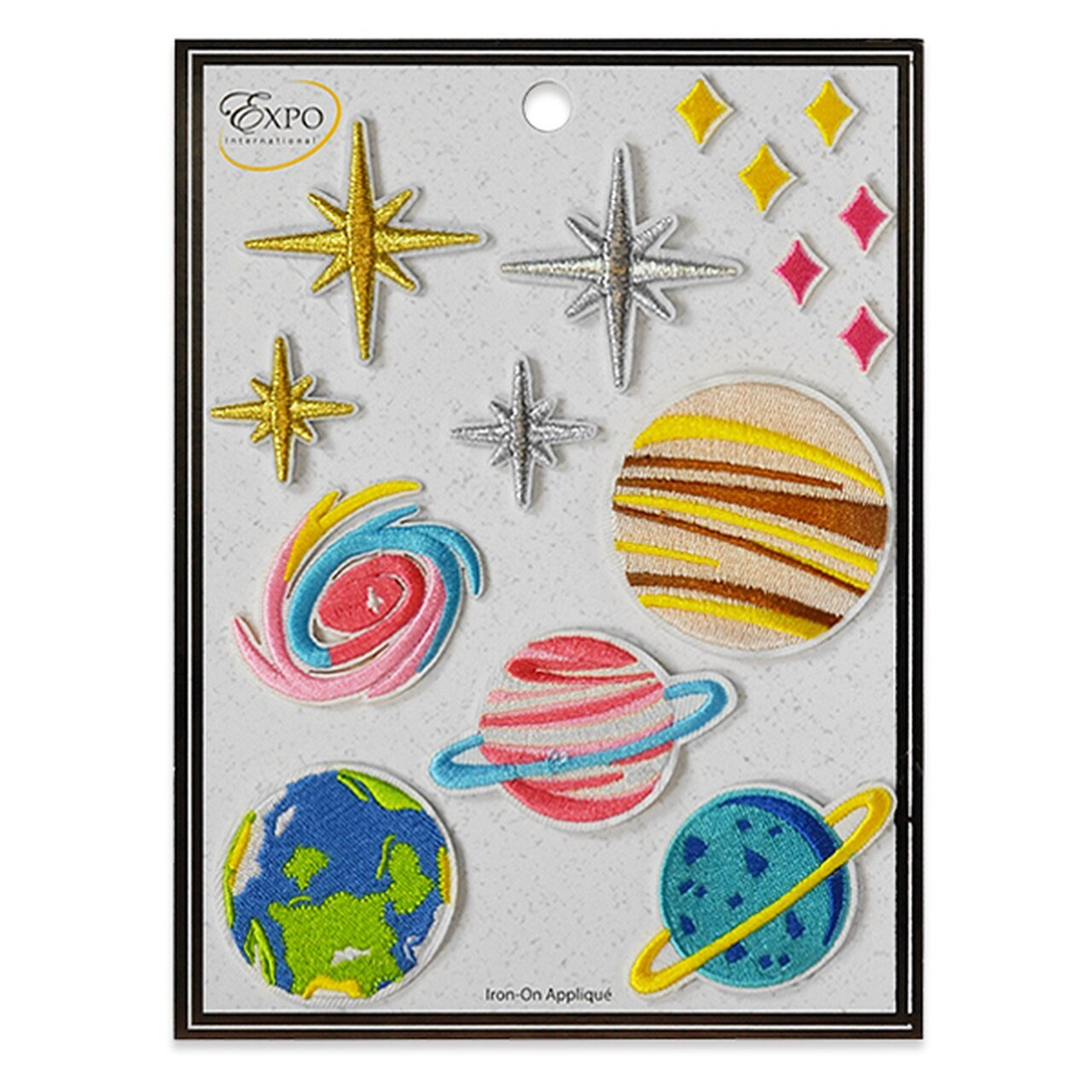 15 PC Cosmos Iron On Embroidered Applique Collection - Multi Colors