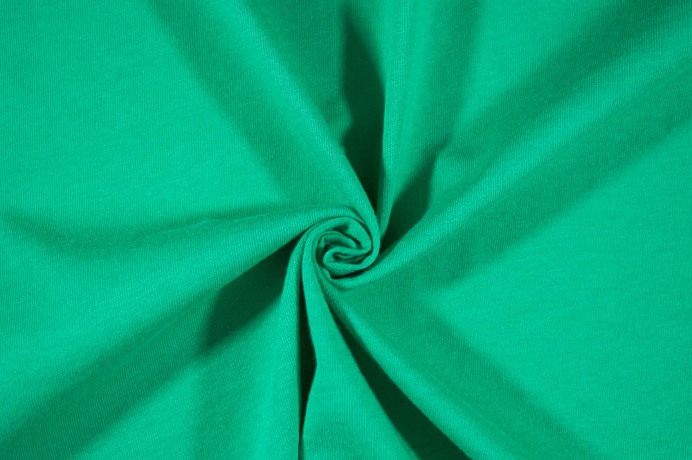 Cotton Jersey Solid Green Mint