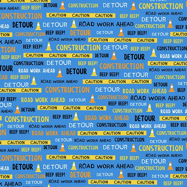The Big Dig  Contruction Words Blue