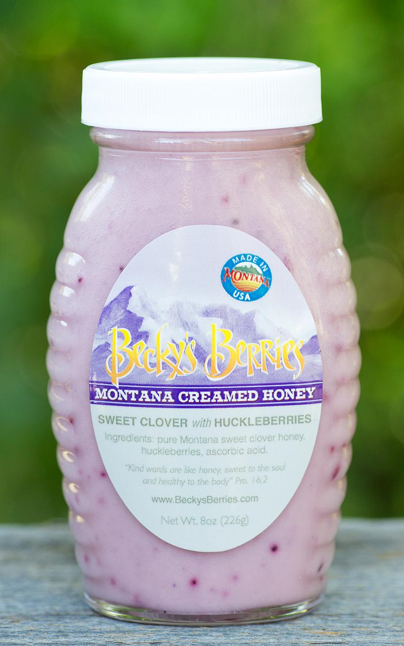 Creamed Huckleberry Honey