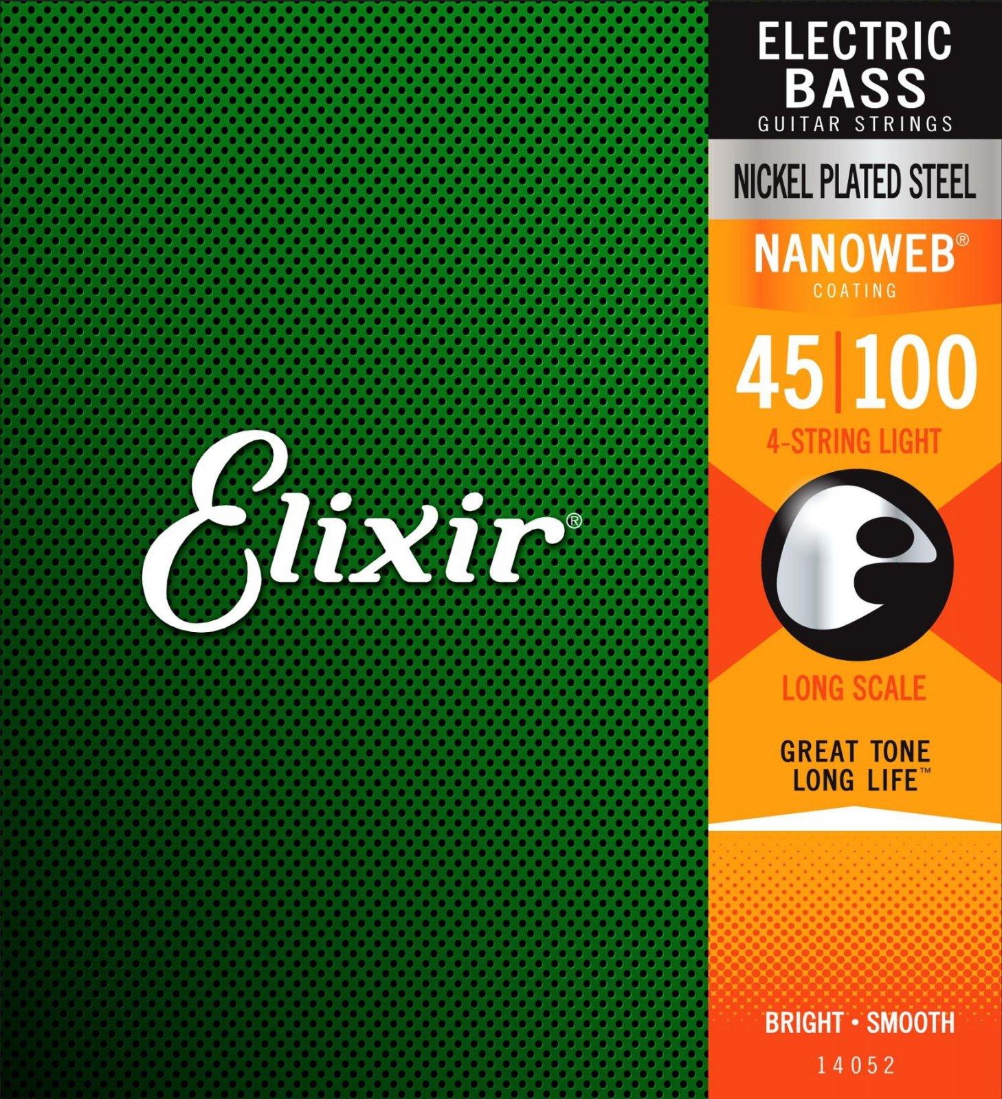 Elixir Bass Nano Long Scale Light 45-100