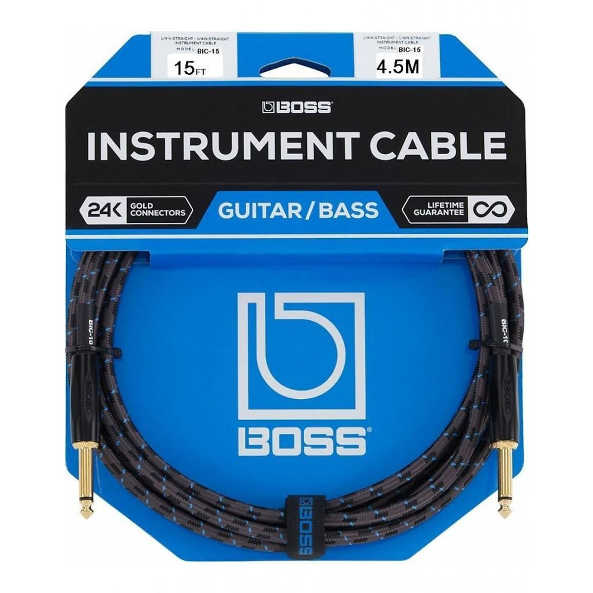 Boss Instrument Cable - 15ft