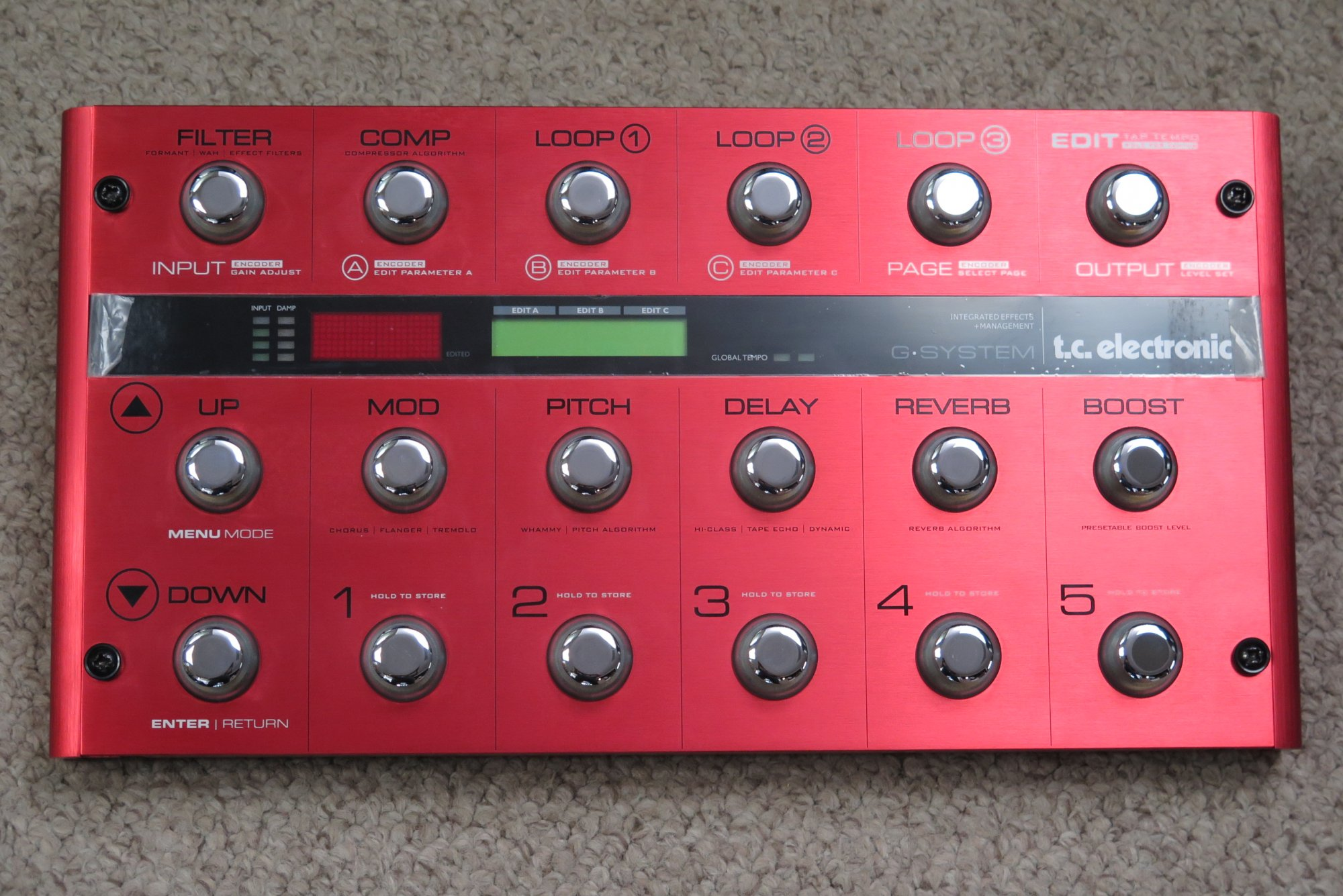 TC Electronic G-System Limited Edition Red (Used)