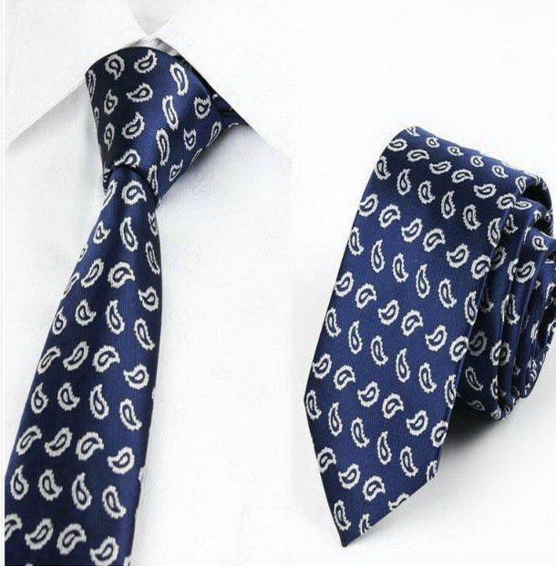 Navy Teardrop Tie