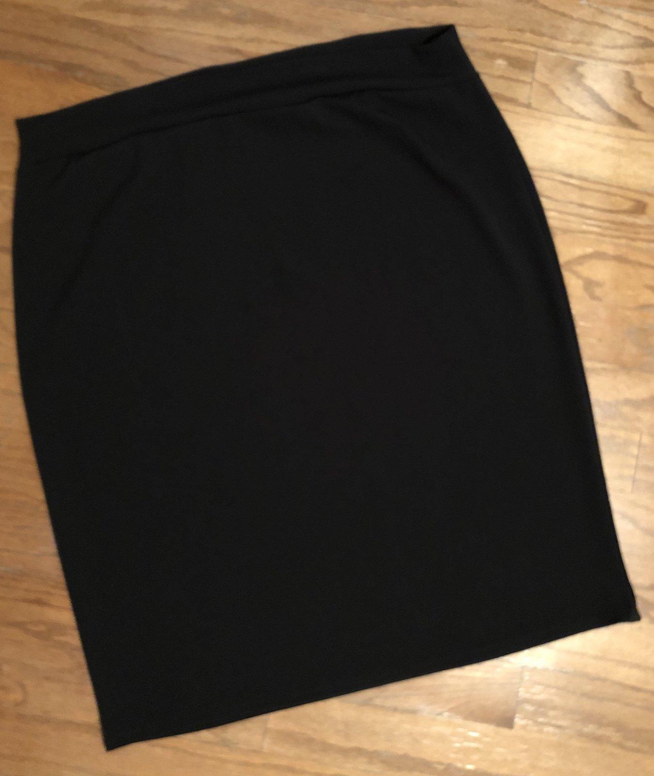 Long Black Pencil Skirt (PLUS)