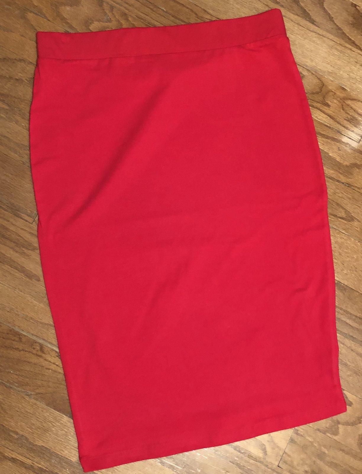 Ruby Cotton Pencil Skirt