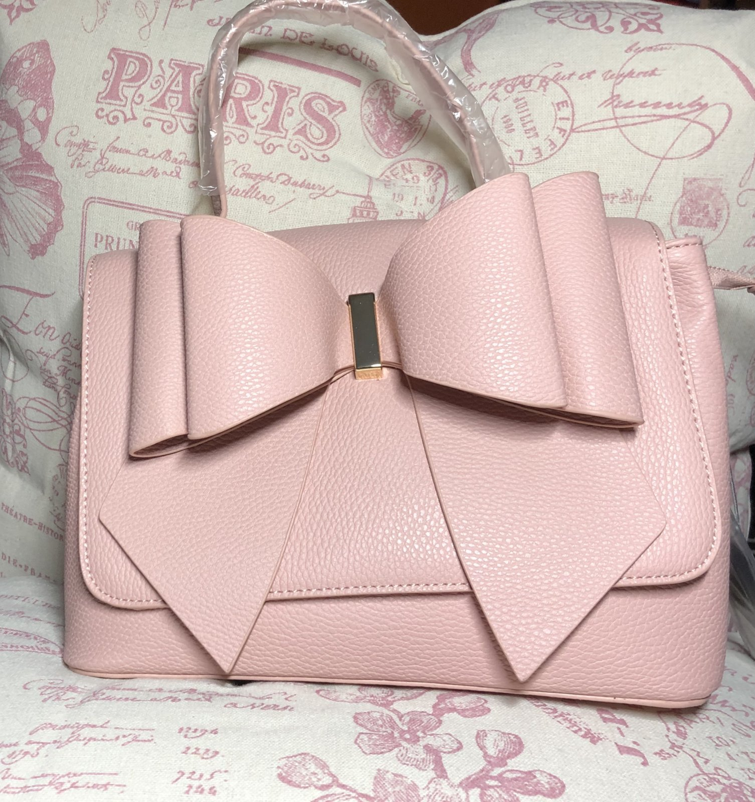 Bow Handbag Light Mauve