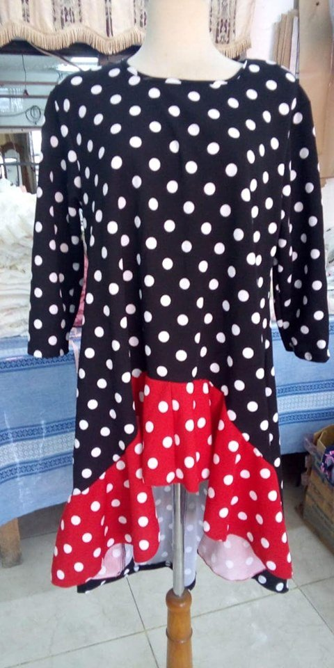 BeBe Top Black and Red Dot
