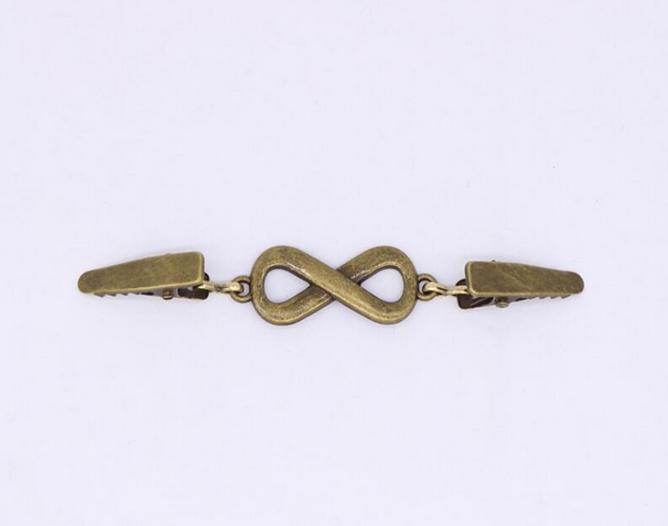 Cardigan & Vest Clip Bronze Infinity