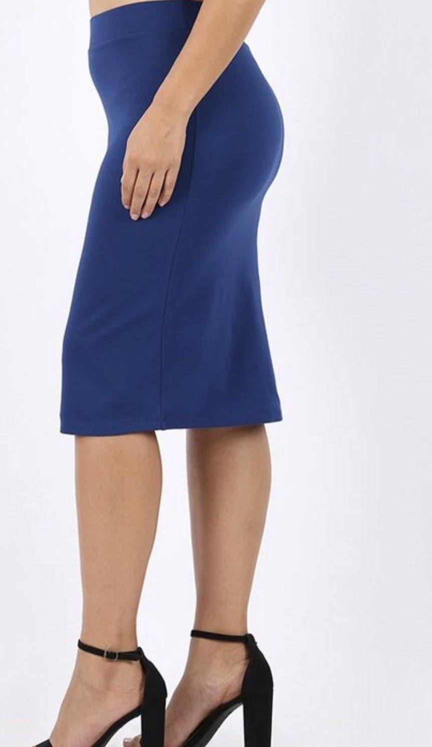 ab2daa637785cb Plus Royal Ponte Pencil Skirt