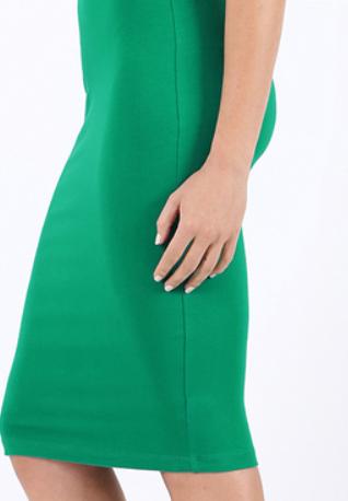 Kelly Green Cotton Pencil Skirt