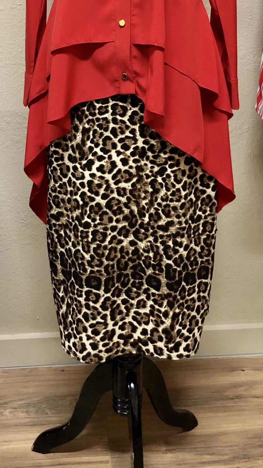 Leopard Pencil Skirt 28