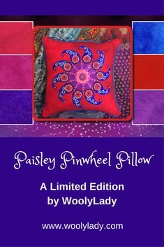 Paisley Pinwheel Pillow