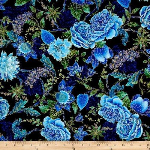 EDEN Black Floral Metallic