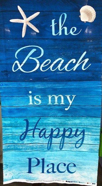 Beach Happy Place Panel C6742 Turq
