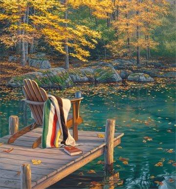 On Golden Pond DP22985-46 Dark Blue