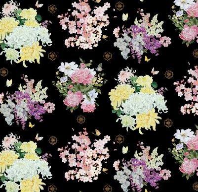 Geiko  Floral Black ESM3407