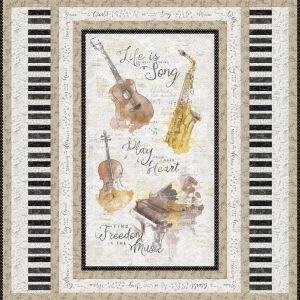Musical Gift 16518-259 Panel