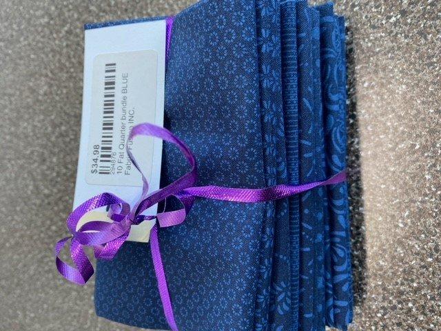 10 Fat Quarter bundle BLUE