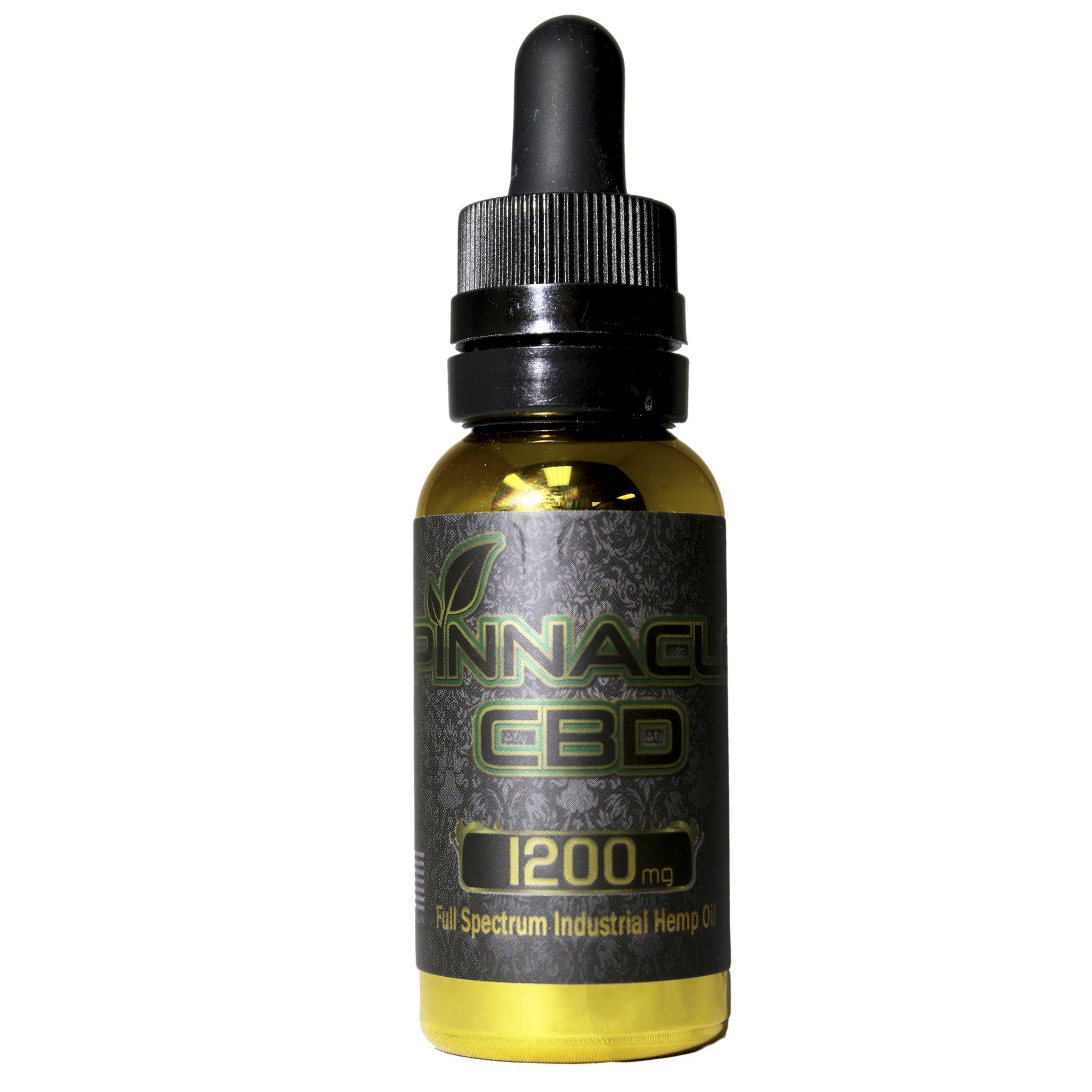 Pinnacle Vapor CBD Oil 1200 mg Bottle