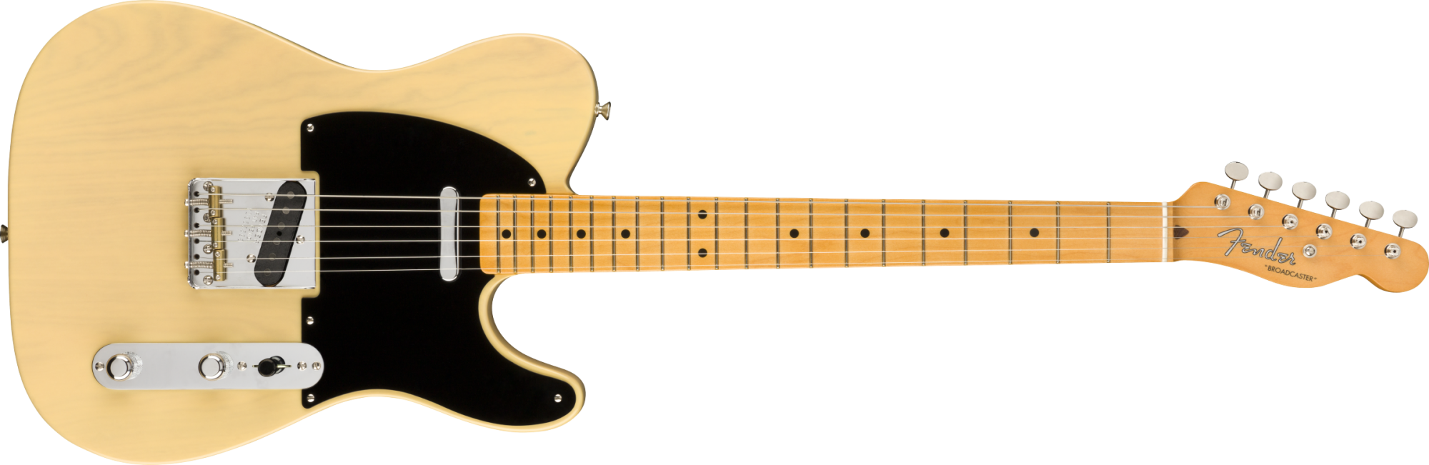 Fender 70th Anniversary Broadcaster, Maple Fingerboard, Blackguard Blonde- 7. 4 1/2 oz