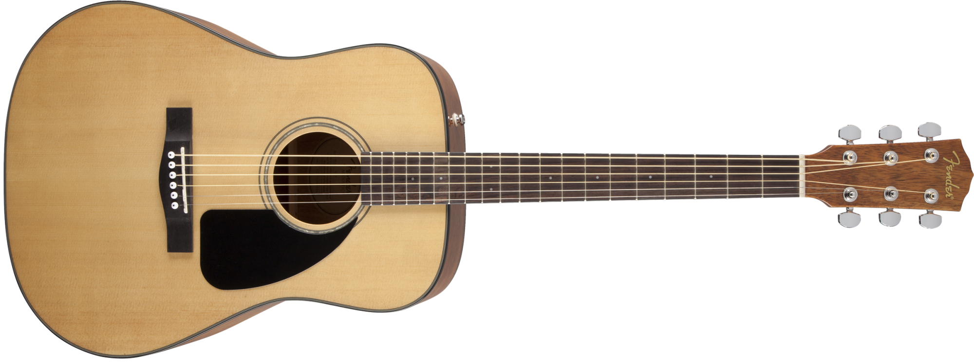 Fender CD-60 Dreadnought V3 w/Hardshell Case, Walnut Fingerboard, Natural
