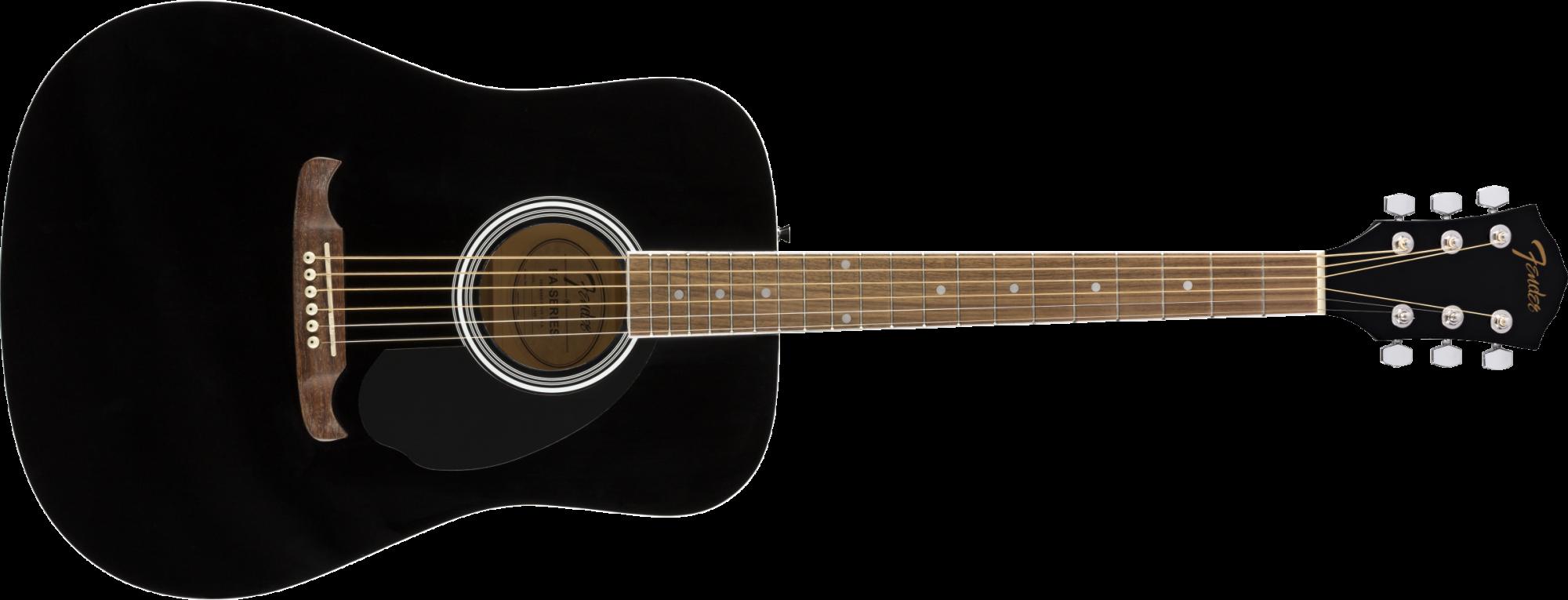 Fender FA-125 Dreadnought, Walnut Fingerboard, Black w/Bag