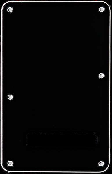 Fender Backplate, Stratocaster®, Black (B/W/B), 3-Ply