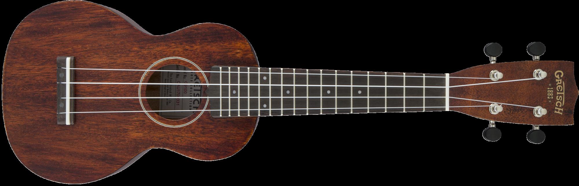 Gretsch G9100 Soprano Standard Ukulele with Gig Bag, Ovangkol Fingerboard, Vintage Mahogany Stain
