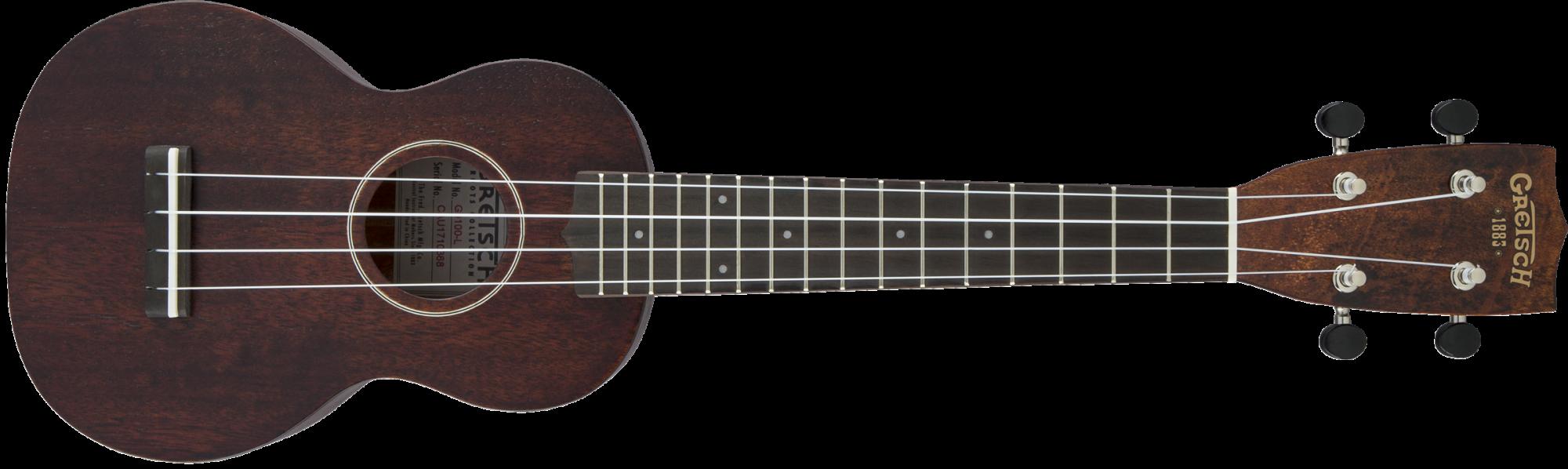 Gretsch G9100-L Soprano Long-Neck Ukulele with Gig Bag, Ovangkol Fingerboard, Vintage Mahogany Stain