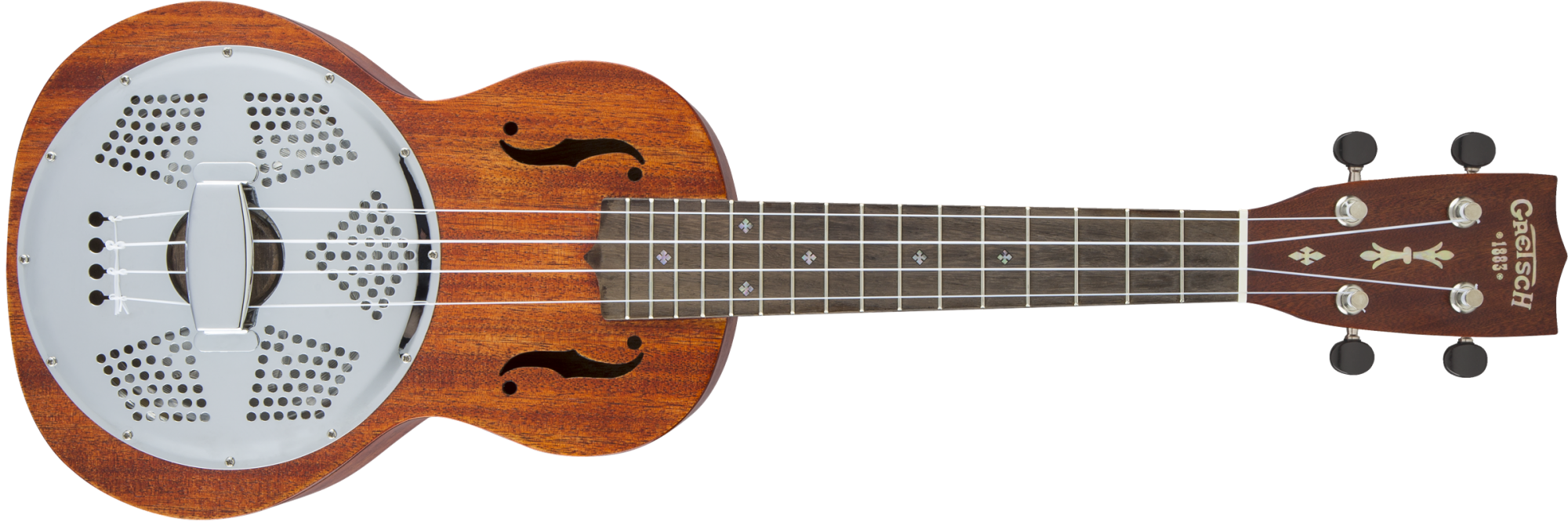 Gretsch G9112 Resonator-Ukulele with Gig Bag, Ovangkol Fingerboard, Biscuit Cone, Honey Mahogany Stain