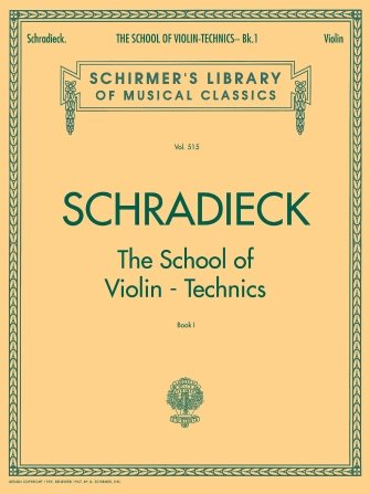 Schirmers Library Of Musical Classicsn Schradieck The School Of Violin-Technics