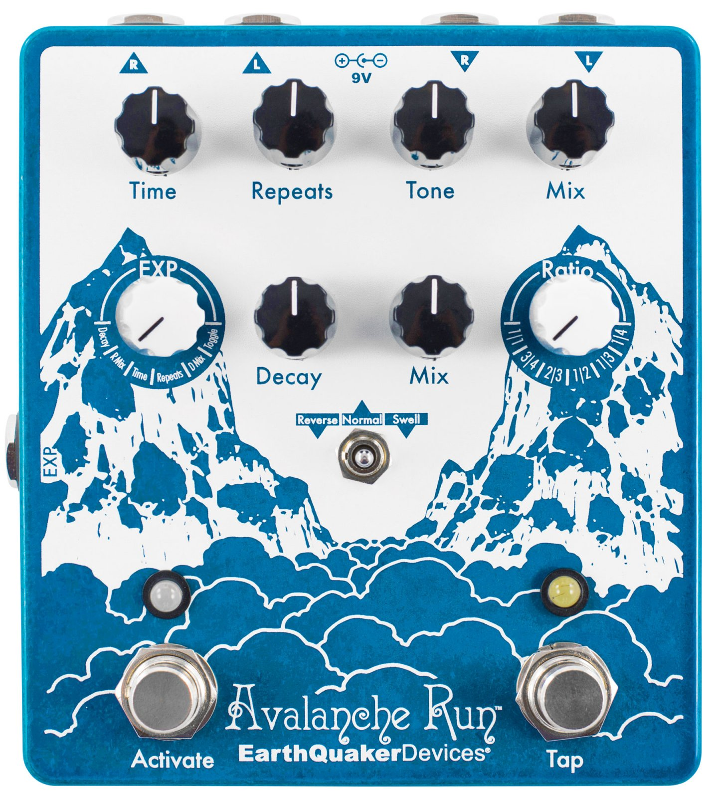 EarthQuaker Avalanche Run  Stereo Reverb & Delay with Tap Tempo