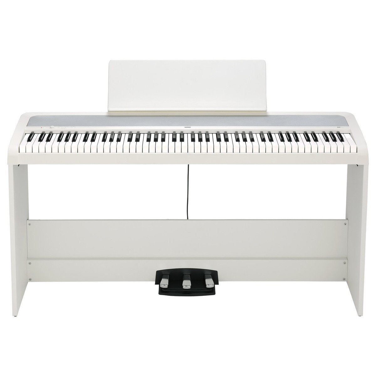 Korg B2SP Digital Piano With Stand, White