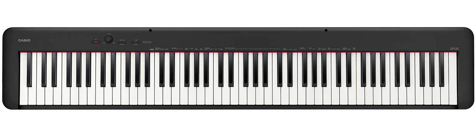 Casio CDP-S150 Compact Digital Piano 88-key Digital Piano with Scaled Hammer-Action Keybed, 10 Tones, Stereo Speaker System, and Headphone Jack