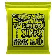 Ernie Ball 2221 Nickel Wound Guitar Strings, Regular Slinky, 10-46
