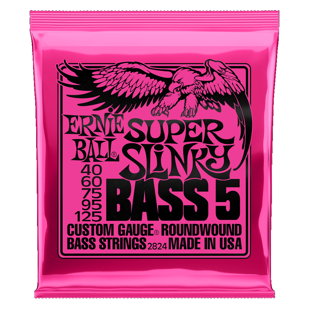 Ernie Ball Super Slinky Bass Strings; 5 String, .040-.125