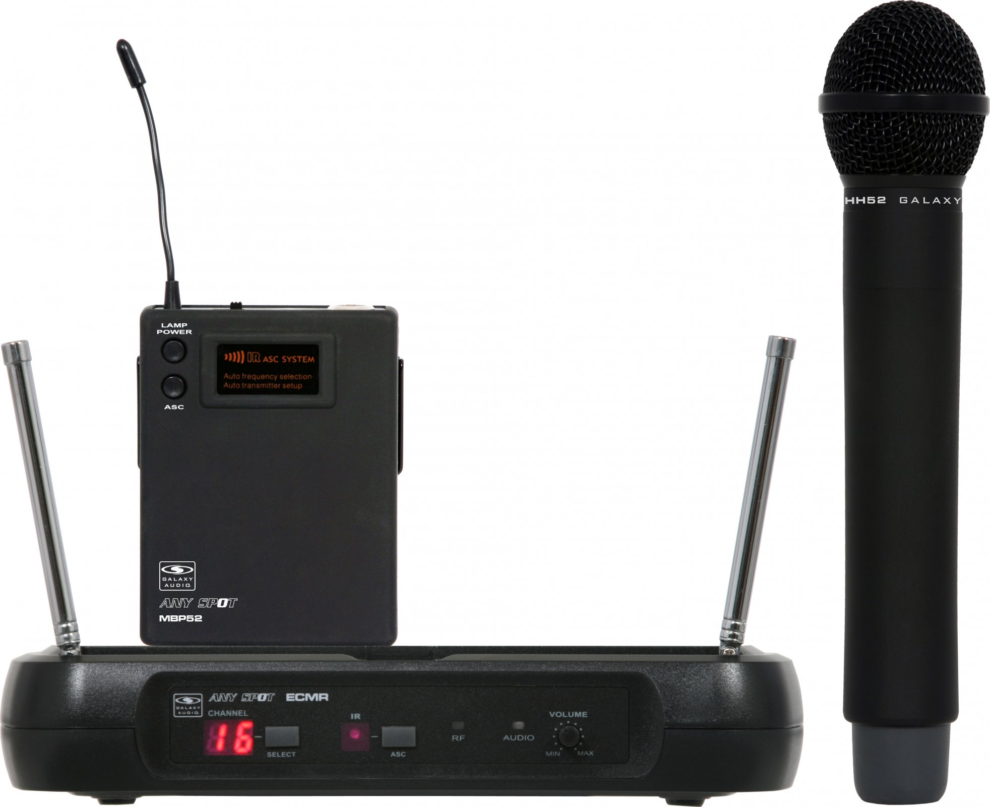 Galaxy Audio ECMR/HH52D ECM Handheld System - D Band