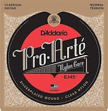 D'Addario Pro-Arte Nylon Classical Normal Tension Silverplated Wound