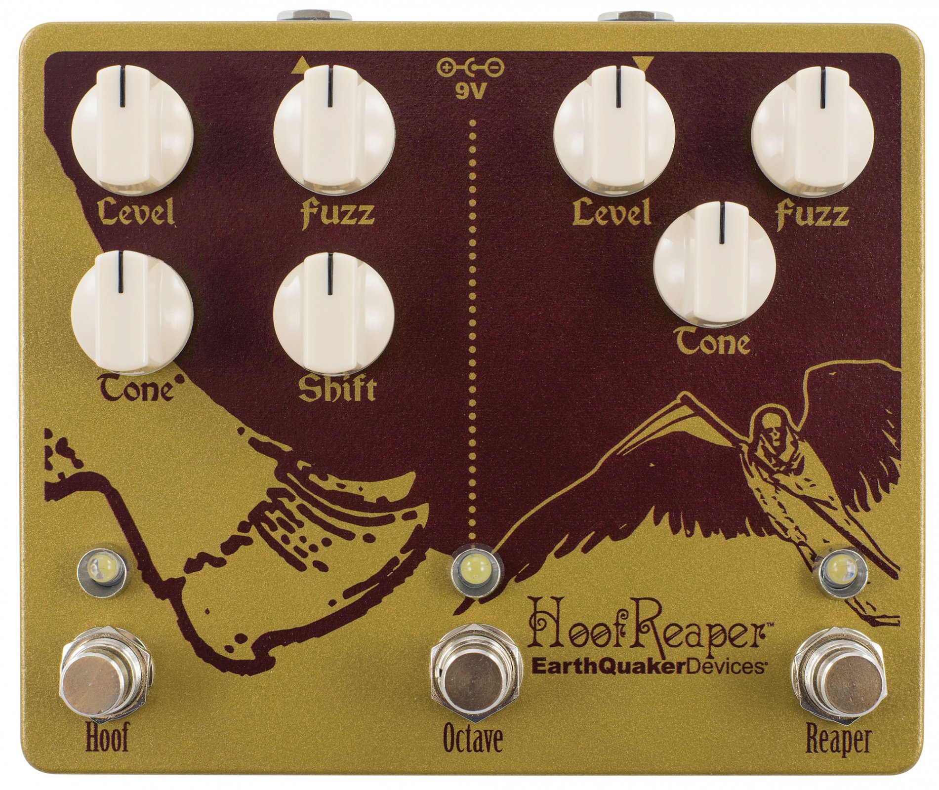 EarthQuaker Hoof Reaper Double Fuzz with Octave Up