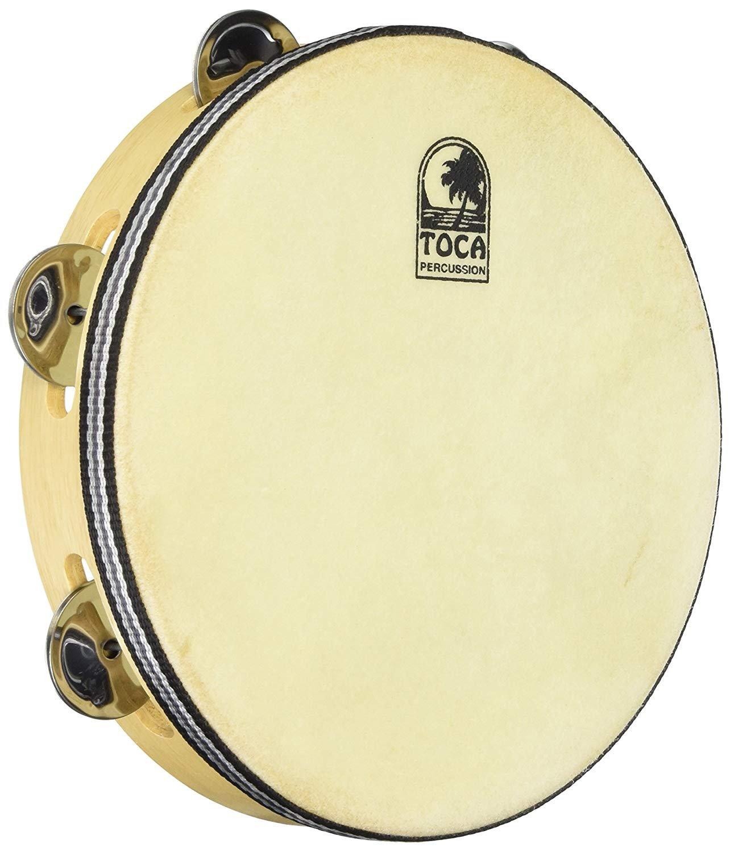 Toca Wood Tambourine, 9? Single Row with head