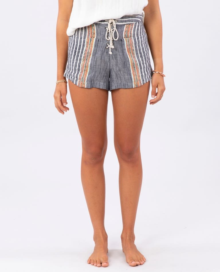 Baja Stripe Short BLK