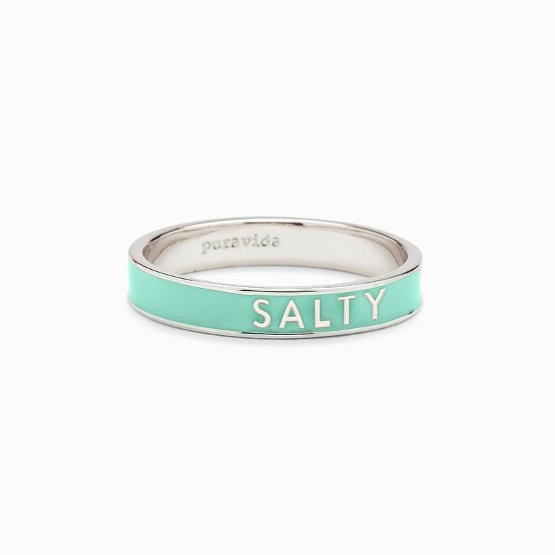 SALTY ENAMEL WORD RING