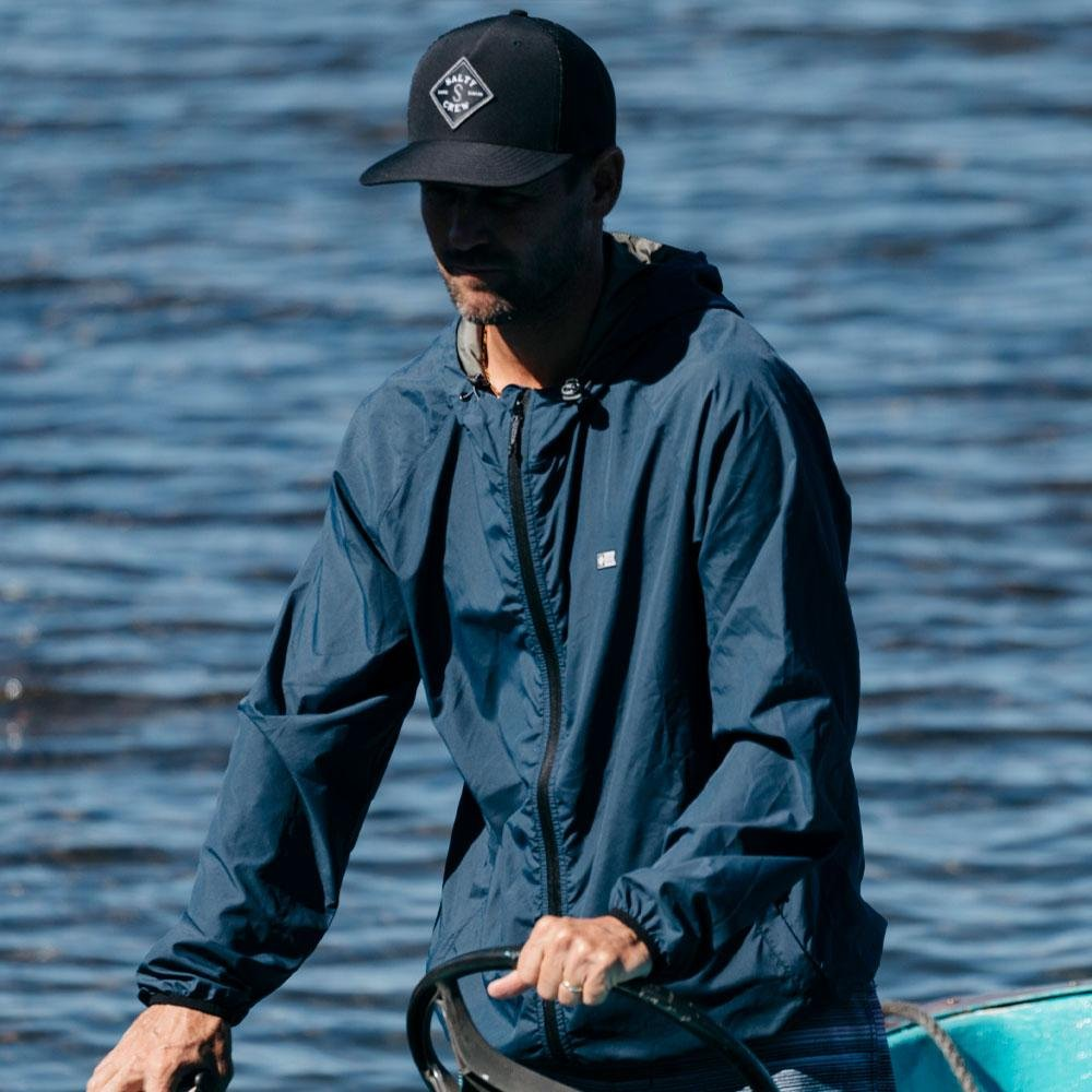 SEAWALL PACKABLE JACKET NAVY