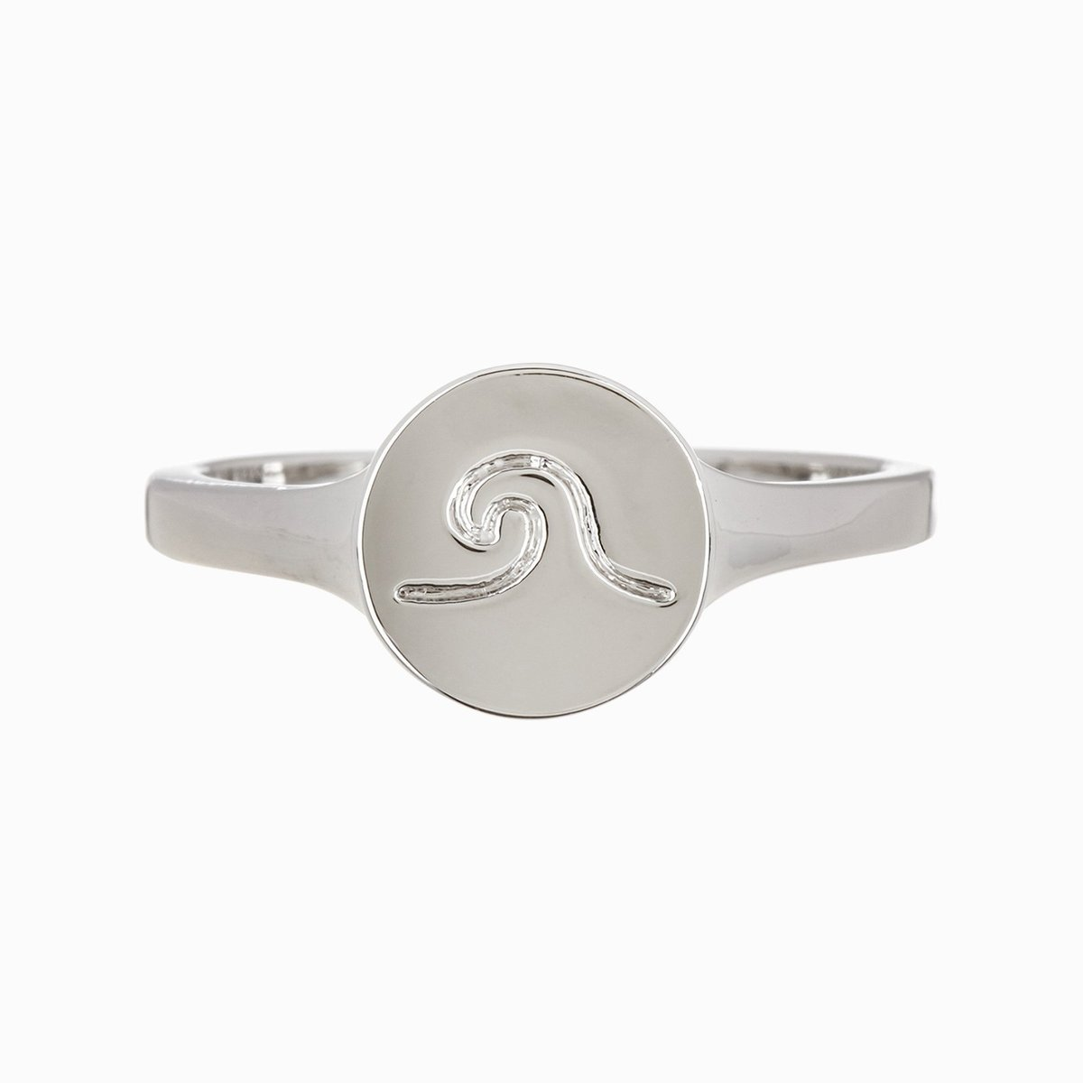 WAVE COIN RING