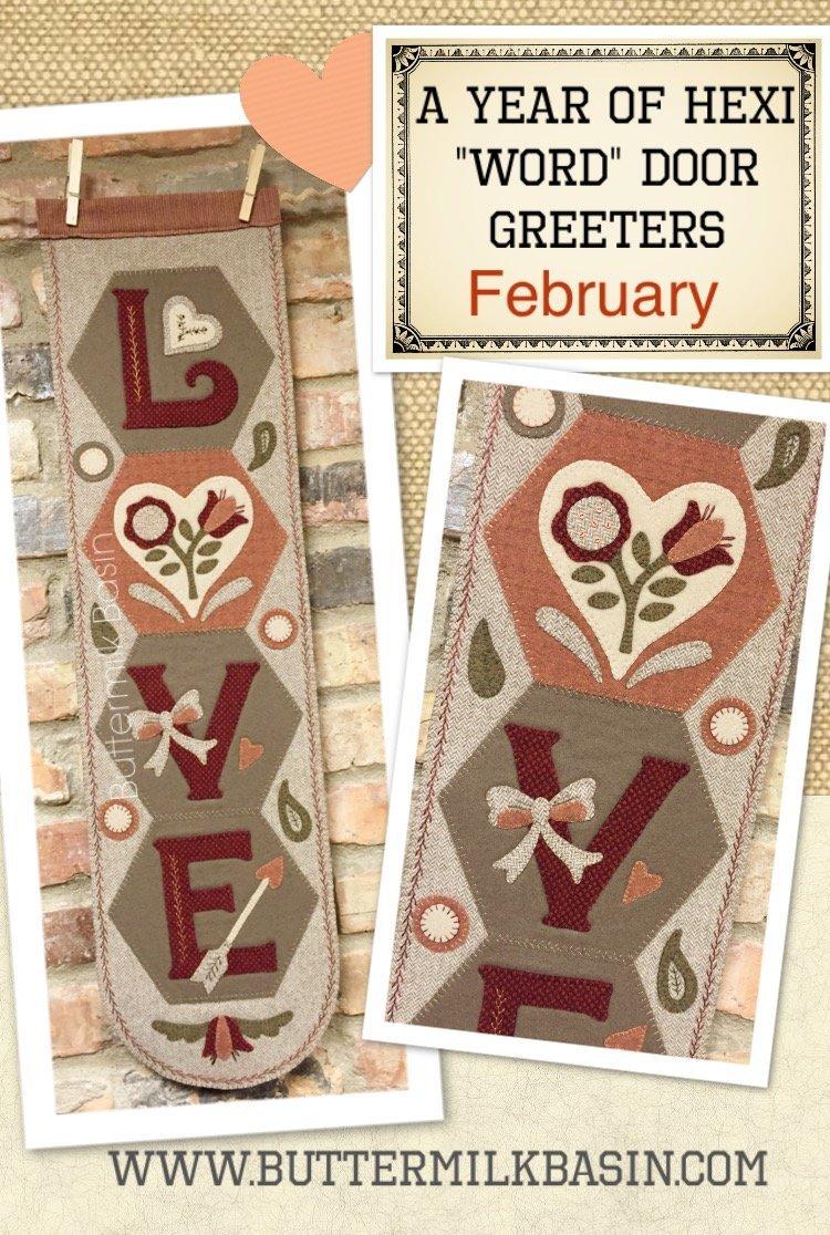Hexi Door Greeter February Kit-LOVE