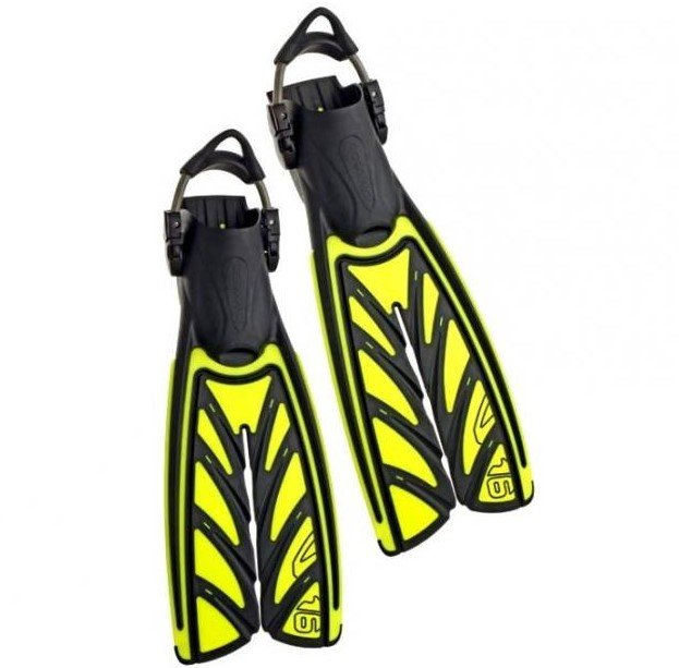 VORTEX V-16 FIN BLACK/Yellow Spring Straps